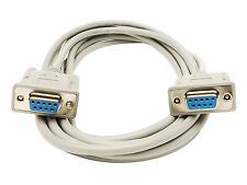 6ft Serial Cable Port DB9 9 Pin Female RS232 Modem Data Transfer Cable
