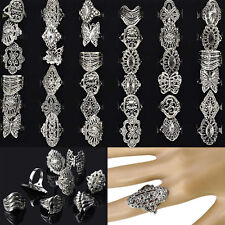 30pcs Wholesale Bulk Jewelry Lots Mixed Style Tibet Silver Vintage Rings Free