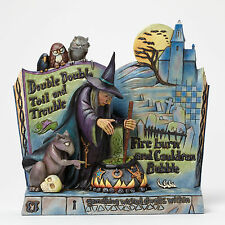 Jim Shore Halloween Witch w/Couldron Spell Book Figurine ~ Curses! ~ 4047839