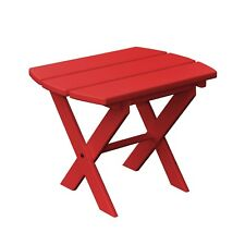 *Poly Furniture Wood* Oval Folding End Table  *BRIGHT RED COLOR* Amish Made USA