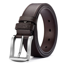 Men's Classic vintage Metal Automatic Buckle Genuine Leather Jean Dress Belt NEW