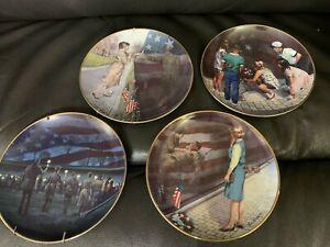💖🌹 4 Franklin Mint Friends Of The Vietnam Veterans Memorial Plates~EUC🎁🌹