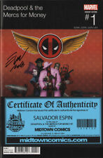DEADPOOL & the Mercs for Money #1 Hip Hop variant signed Salvador Espin NM COA