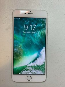 Apple iPhone 6s Plus 16GB Silver Used (Unlocked) W/ Cover/Case White Marble