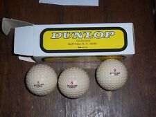 "3 Vintage Logo Golf Balls ""Dunlop Tires"" with Liquid center free shipping"