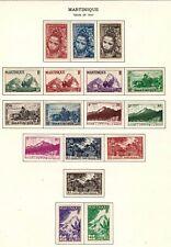 Martinique stamps #217 - 233, MHOG, VVF, complete set