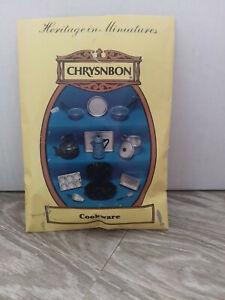 Chrysnbon dollhouse heritage in miniatures cookware