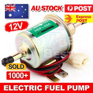 Electric Fuel Pump HEP-02 12V Volt Bolt Fixing Wire Lightweight Diesel Petrol
