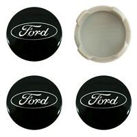 4 x Ford Alloy Wheel Centre Caps 54mm Black- OEM Fits All Focus Fiesta KA Kuga