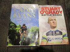 THE ART OF CYCLING BY CADEL EVANS HCDJ + STUART O'GRADY BATTLE SCARS 2 BOOKS