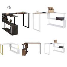 Schreibtisch Eckschreibtisch Computertisch mit Regal PC Arbeitstisch MDF Metall