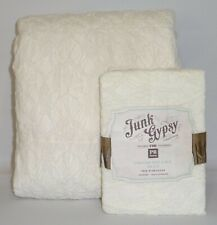 NEW Pottery Barn TEEN Junk Gypsy Crocheted Lace TWIN Duvet Cover w/STANDARD Sham