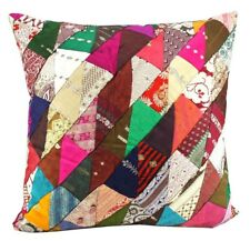 Indian Sari Patchwork Cushion with insert boho vintage yoga meditation 50*50cm