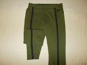 NIKE OLIVE GREEN FITTED ATHLETIC PANTS MENS MEDIUM EXCELLENT CONDITION