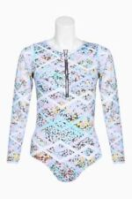 NEXT Lilac Floral Long Sleeved Swimsuit Swimming Costume Rash Vest Size 16