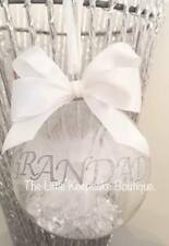 Personalised Feather Keepsake Christmas Bauble With Crystals Memory keepsake