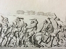Estampe Germanie bataille Romains Daces et Germains Colonne milieu XIXe siècle