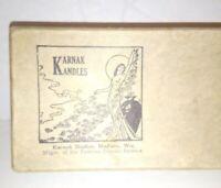 Art Nouveau Karnak Kandles Empty Box VTG Madison Wisconsin Incense Advertising