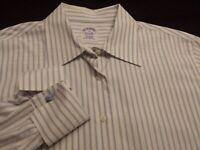 Brooks Brothers Womens sz 12 Long Sleeve Button-Down Cotton Blue Striped Shirt