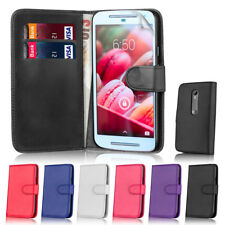 32nd Book Wallet Flip PU Leather Case Cover With Card Slots for Motorola Phones