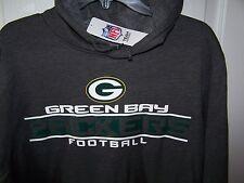 Green Bay Packers Dark Gray Hooded Sweatshirt Mens 2XL  NWT Free Shipping