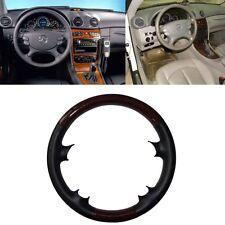 Wood Leather Steering Wheel Cover Mercedes 03-09 W209 CLK R230 W219 06-09 W211 E