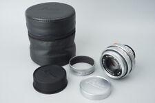 Leica Elmar-M 50mm f/2.8 f2.8 E39 Lens, Silver, w/ Hood & Case For Leica M Mount