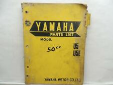 Yamaha U5 U5E Parts List Book Manual Catalog L12602