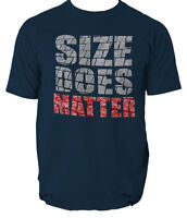 Size Does Matter MENS T-SHIRT birthday gift workout gym training fitness S-XXL