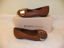 BCBGeneration Dylann Brown Flat Ballet Loafer Slip On Size 7 EU 37 NIB $80