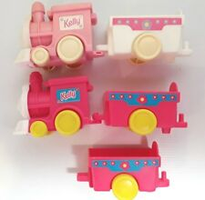 Barbie Kelly doll toy train carriages Pink