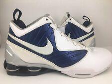 376cec1b3284 2010 Mens Nike Shox BB Pro TB White Blue Metallic Bask Shoes 407628-