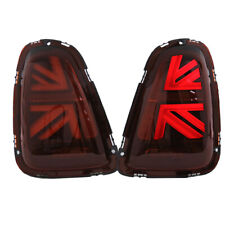 11-15 Helix Mini Cooper R56 R57 R58 R59 LED Union Jack Taillights - Dark Red