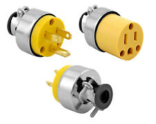 2 Extension Cord Replacement Ends - Male and Female Plugs - Electrical Repair