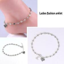 Plum Flower Anklets Anklet Foot Jewelry Antique Silver Chain Sexy Love Heart