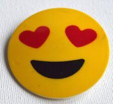 NEW 5cm Yellow circle emoji love heart beak hair clip fashion