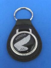 GOLDWING AUTO LEATHER KEYCHAIN KEY CHAIN RING FOB #068