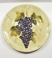 Hand Painted Tabletops Unlimited Gallery CABERNET Dinner Plate Grapes Leaf Vine