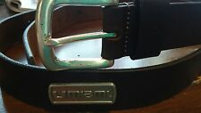 Brown Genuine Leather Belt with University of Miami Hurricanes Conchos Size 42 R