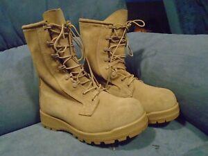 Bates Men's 8 xw Vibram Brown Suede Work  Army Combat Boots SPE1C115C0012 11461A