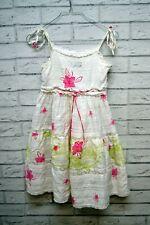 ALVIERO MARTINI 1 CLASSE Vestito Bianco Abito Bimba Taglia XS Girl Dress White