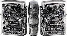 Zippo Oil Lighter Harley Davidson Japan Black Satin Silver F/S HDP-28
