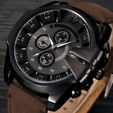 Mode Sports Herrenuhr Quarzuhr Edelstahl Leder Luxus Casual Armbanduhr Watch