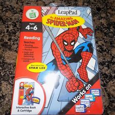 LEAP PAD LEAP FROG THE AMAZING  SPIDERMAN  AGES 4-6 USED