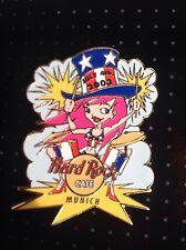 HRC hard rock cafe munich 4th July Girl pin 2003, le 500