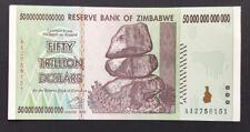 Uno de 50 billones de dólares Zimbabwe nota. UNC