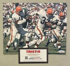 "Jim Brown "" HOF 1971 "" Signed 8x10 Photo Autographed AUTO TRISTAR COA Browns"