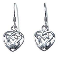 Pendientes de joyería de metales preciosos sin piedras de plata de ley plata