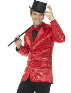 """Sequin Jacket, Mens, Red -  (Size: Chest 38""""-40"""", Leg Inseam 32.75"""") COST-M NEW"""