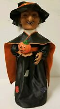 """HALLOWEEN ANIMATED HAUNTED WITCH EYES LIGHT UP WITH EERIE SOUNDS PROP 17"""""""